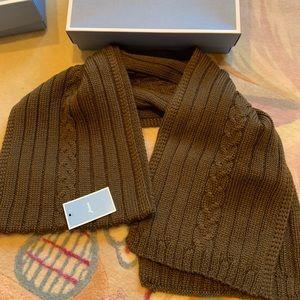 Jacadi brown kids scarf new with tag and box